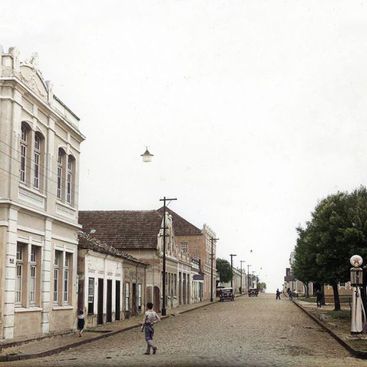 RUA PAULA XAVIER, PRAÇA BARÃO DE GUARAÚNA - APROX.1920 - AUTOR E ACERVO DESCONHECIDO - COLORIZADA JOÃO EDILSON LOPES