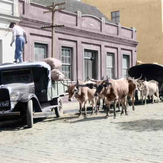 CASA JUSTUS - RUA BALDUÍNO TAQUES - 26.04.1930 - FOTOGRAFIA DE ROBERT SWANTON PLATT - COLORIZADA POR JOÃO EDILSON LOPES