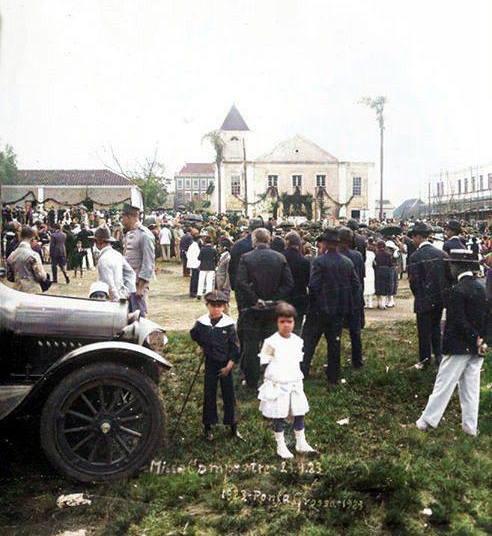 CENTENÁRIO DA CIDADE 23.09.1923 - PRAÇA BARÃO DO RIO BRANCO - AUTOR DESCONHECIDO - COLORIZADA POR JOÃO EDILSON LOPES