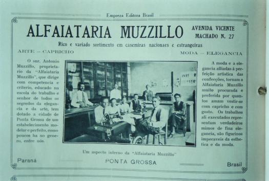 Alfaiataria Muzzilo. Av. Vicente Machado, 27.
