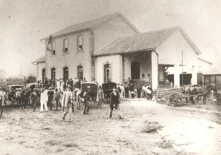 Estação Paraná - inauguração em 1892.