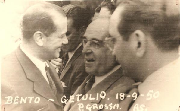 Governador Bento Munhoz da Rocha e Getúlio Vargas - 18.09.1950