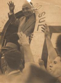 Getúlio Vargas em Ponta Grossa - 1950