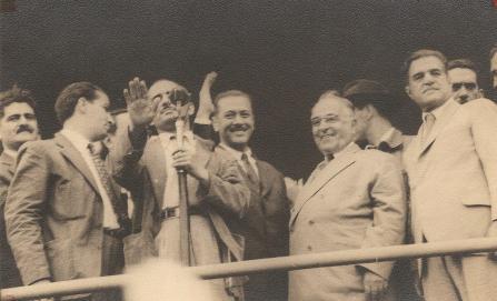 Getúlio Vargas em Ponta Grossa - Comício em 18.09.1950.