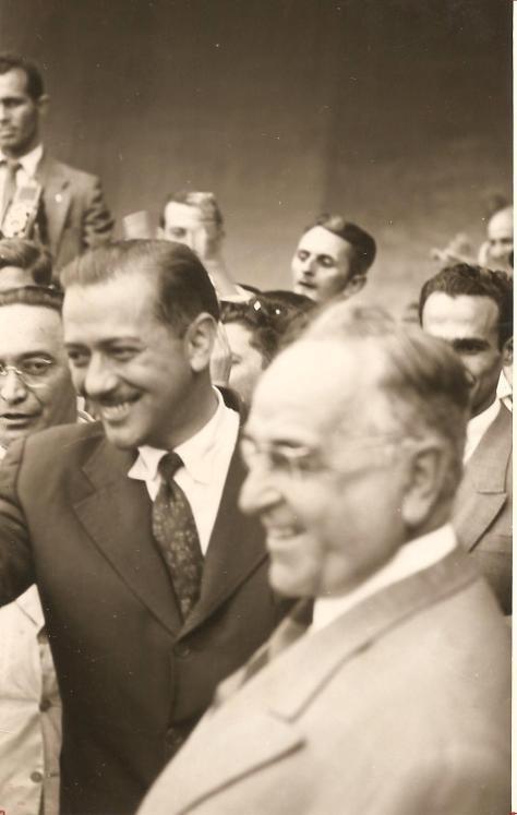 Governador Bento Munhoz da Rocha e Getúlio Vargas - Concha Acústica - 18.09.1950.
