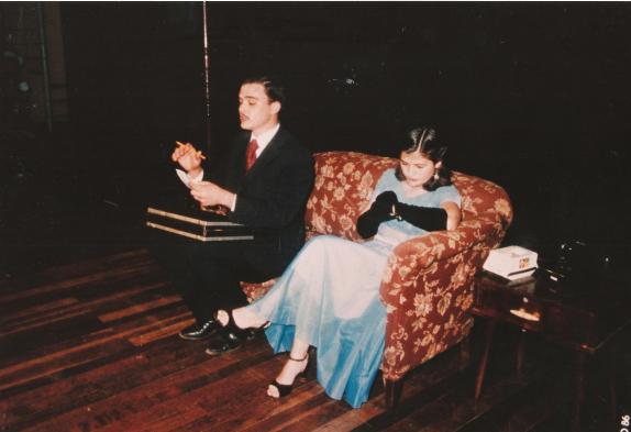 Grupo Teatrokê - Peça ''Uma visita''. Maio de 1986.