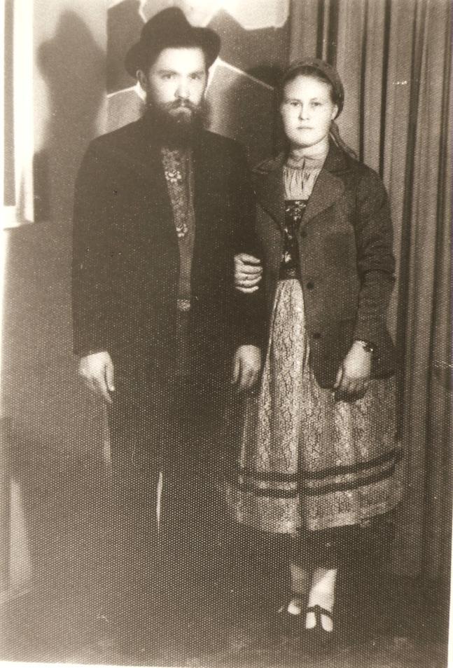 Imigrantes Russos - Ivan Ivanoff e Ekaterina Ivanoff - Ponta Grossa, 1970.
