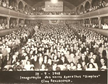 Inauguração dos aparelhos 'simplex' - Cine Renascença. 19.09.1948.