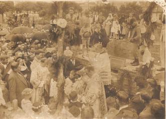 Início da construção da Igreja Sagrado Coração de Jesus - Don Antônio Mazarotto.