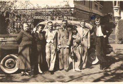 Parte posterior da residência da Família Thielen, Mansão Villa Hilda, 1941.