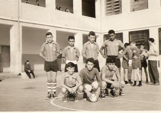 Quadra interna do Colégio Regente Feijó.