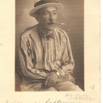 Pianista Eduvard Majanski em 17.04.1937. Foto Kabza.